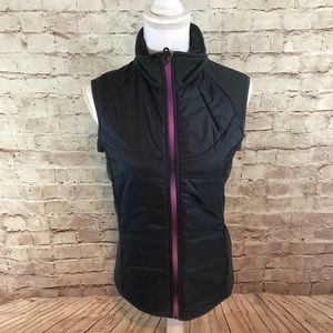 Athleta Puffer Polyester Gray Vest